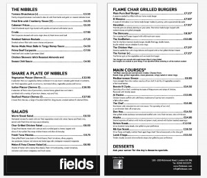 fields menu